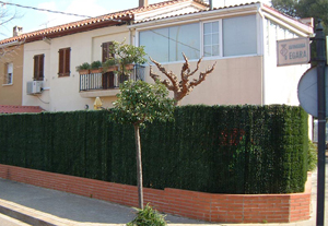 artificial grass wall for residential fence covering