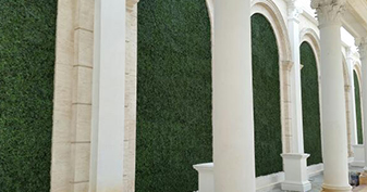 Artificial Boxwood Hedges For Feature Wall design