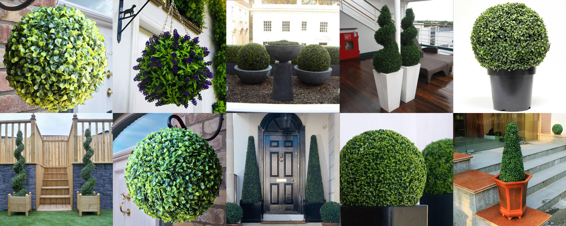 artificial topiary for residential & commercial landscapes