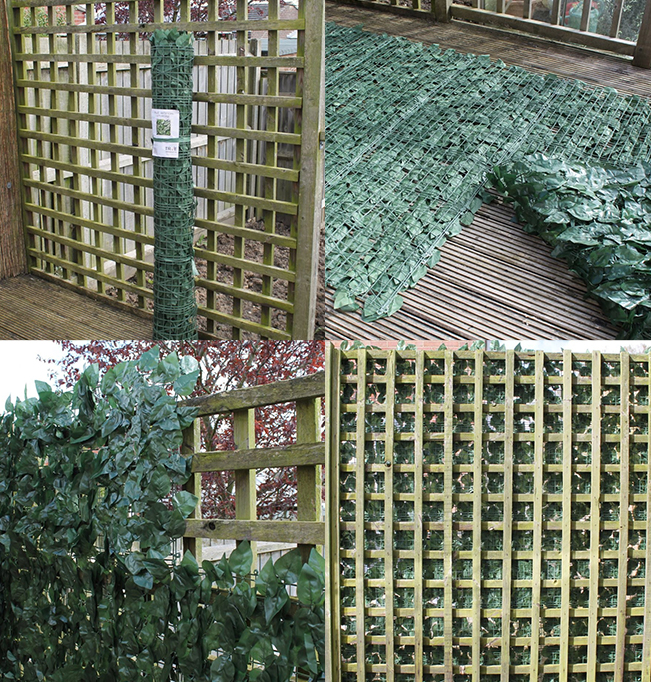 installation of artificial hedge mats