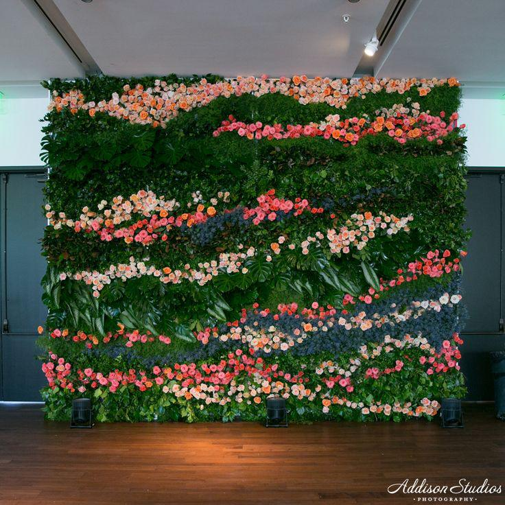 Build Artificial Hedges Flower Wall Privacy