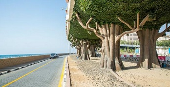 dubai palm bridge decor with artificial hedges.jpg