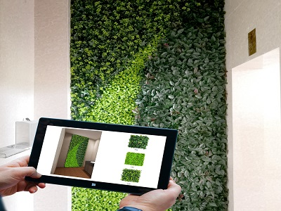 wall space of artificial hedges .jpg