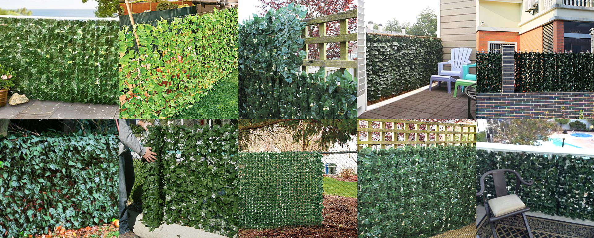 artificial leaves fence for green wall