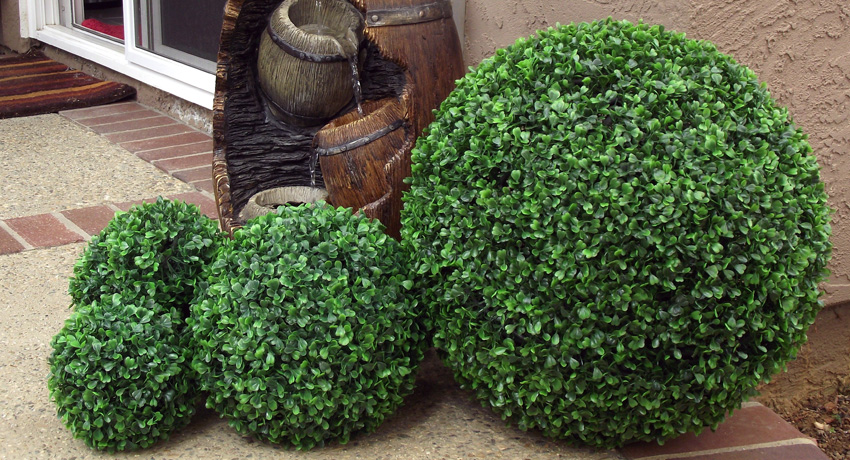 artificial boxwood balls with various size