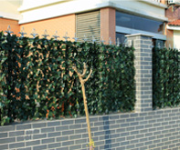 artificial plant screen for chain link fence décor