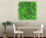 faux plant wall for art